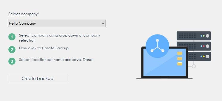 Create Backup - CreateBills GST Billing Software